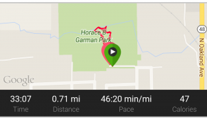 vivoactive map screenshot