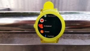 Some fitness apps on the Ticwatch E