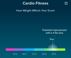 Your weight also affects your score fitbit