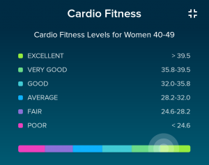 fitbit cardio score