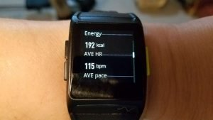 Calories burned and average heart rate