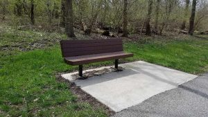 And the bench I sat on!