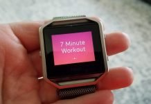 7-Minute Workout on the Fitbit Blaze