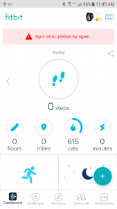 Fitbit Versa not Syncing or Connected