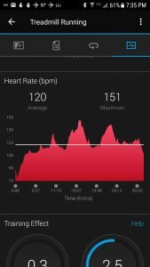 Wahoo TICKR (paired with Garmin Fenix 5s) average HR 120