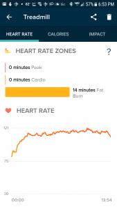 Versa: Average HR 112 Treadmill