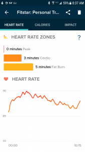 Heart rate on the Versa