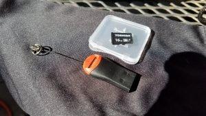 16 GB TF card and reader