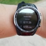 Ticwatch Pro GPS estimated .55 miles