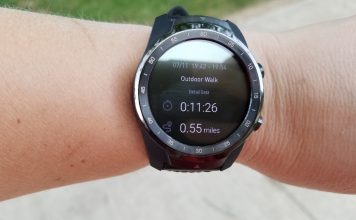 Ticwatch Pro GPS estimated .55 miles