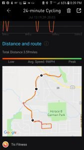 Ticwatch Pro map from bike ride. It nailed it!