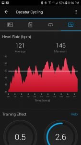 Fenix 5s Heart Rate Data