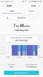 Gear Sport Sleep Tracking