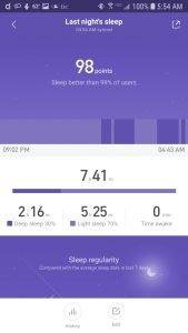 Mi Band 3 Sleep Tracking