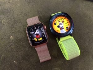 Apple Watch Series 4 and the Samsung Gear Sport