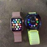 Apple Watch Series 4 and Samsung Gear Sport