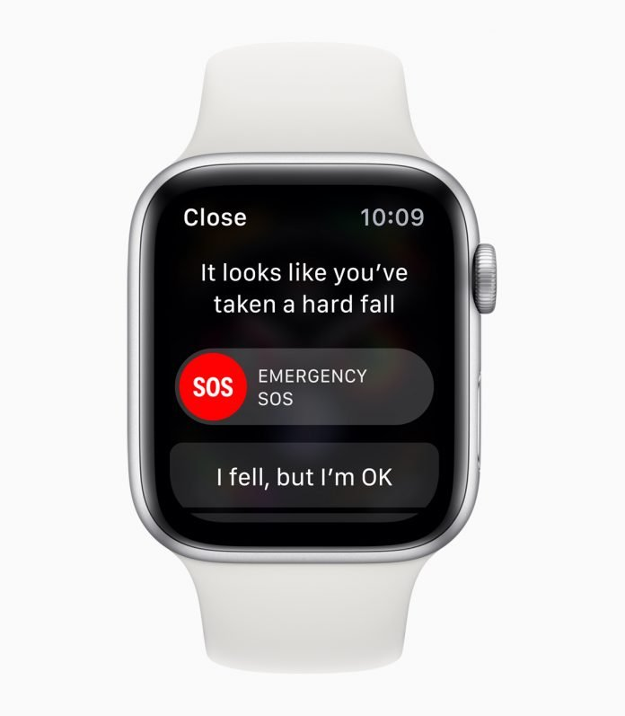 Fall detection on the Apple Watch Series 4