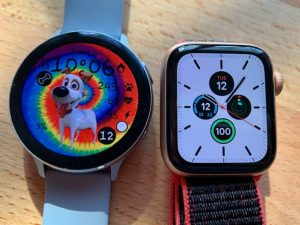 Samsung Galaxy Watch Active 2 versus Apple Watch Series 5