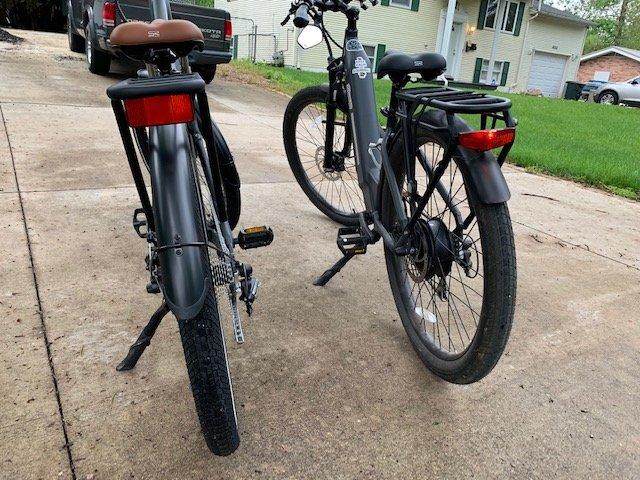 Rear of bikes