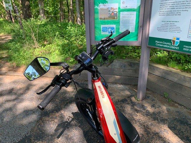 Aventon Aventure on the trail